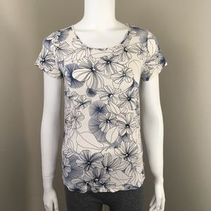GAP Luxe Shirt Small Floral